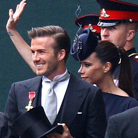 Victoria et David Beckam au mariage