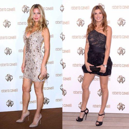 Elisabetta Canalis et Bar Rafaeli: deux célibataires à Cannes