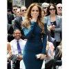 Jennifer Lopez, radieuse en robe bleu