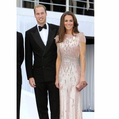 Mode du jour: Kate Middleton en Jenny Packham