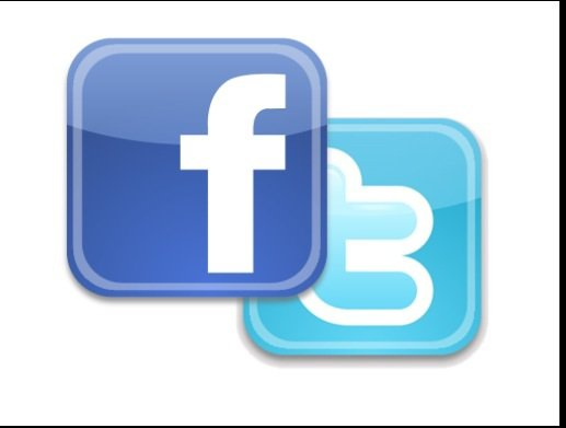 I am on Twitter™ and Facebook™