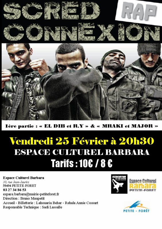 CONCERT SCRED CONNEXION + EL DIB/RY/MRAK/MAJOR MADJ - SAKNES