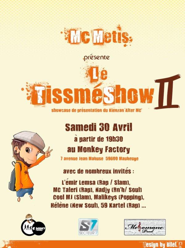 MC Metis présente le TissméShow II - 30 avril à Maubeuge