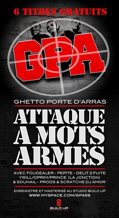 .GPA (Ghetto Porte D'arras) – Attaque A Mots Armés ( maxi gratuit ) excelent !!