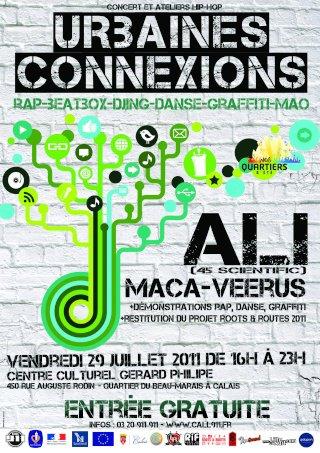 """CALL 911 – """" Nos Quartiers d' Eté """" URBAINES CONNEXIONS Concert et ateliers Hip-Hop Rap – Beatbox – Djing – Danse – MAO"""