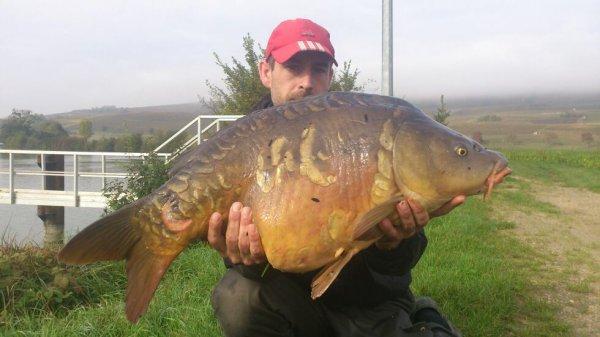 Junior m'a porté chance avec c'est 2 poissons de 8kg00 et 12kg00