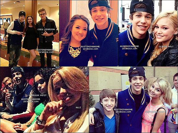 . 23.03.13 : Austin a été à lacérémonie des KCA 2013 à Los Angelesen tant qu'invité. Austin n'a pas gagné de prix puisqu'il n'était pas nominé. .