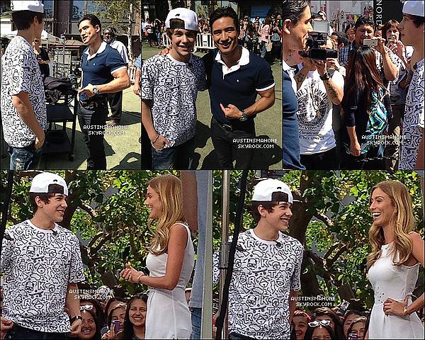 . 26.04.13 : Austin a chanté  pour la chaine « EXTRA TV » et de plus a donner une  interview à L.A. .