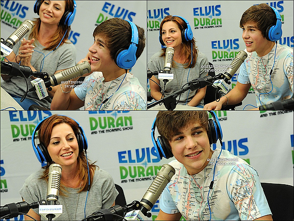 . 07.06.13 : Austin a été à la radio « Elvis Duran morning show » à NY pour une interview. .