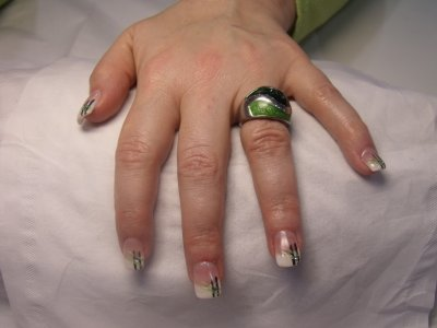pose d'ongle avec french