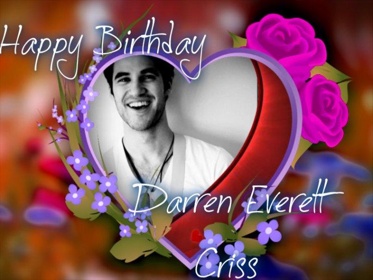 HAPPY BIRTHDAY DARREN EVERETT CRISS