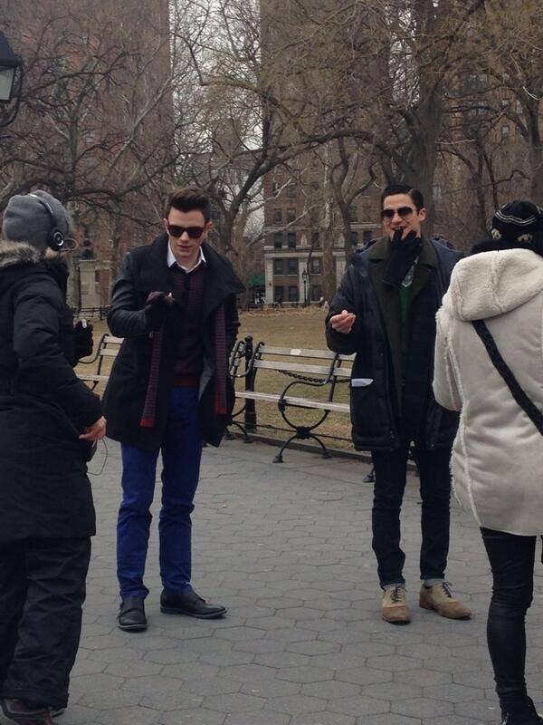 CrissColfer / Klaine sur le tournage