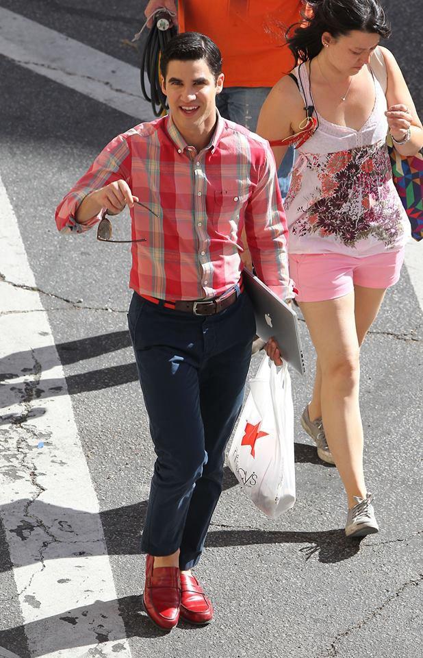 Darren et Chris sur le tournage du dernier épisode