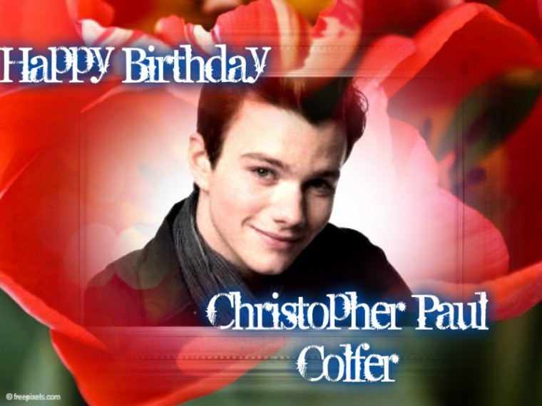 HAPPY BIRTHDAY CHRISTOPHER PAUL COLFER (Kurt Hummel)