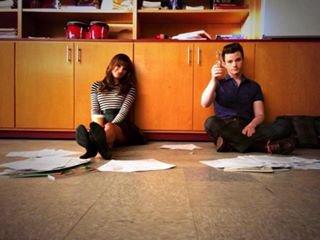 Chris sur le set avec Lea
