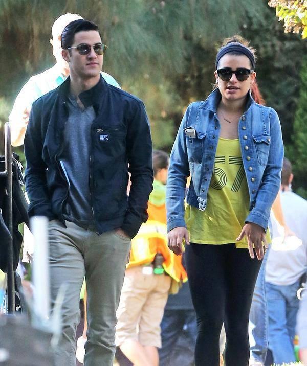 Chris et Darren sur le tournage