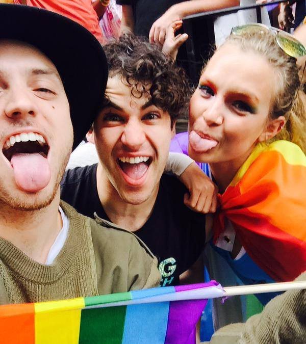 DARREN CRISS A LA GAY PRIDE A NEW YORK