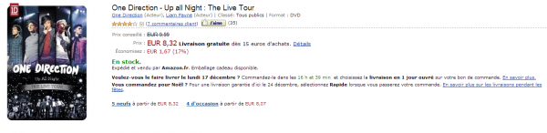 DVD's One Direction O_o