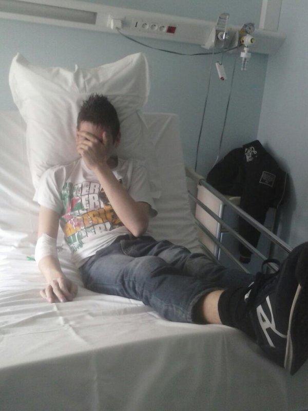 Toujours frais même quand je suis à l'hôpital
