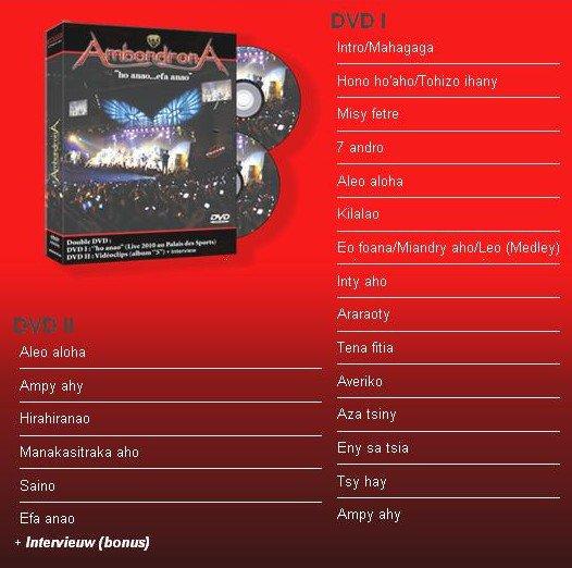 Coffret Double DVD - Ambondrona