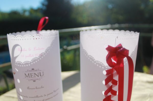 menu pour mariage