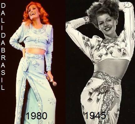Dalida et son idole, Rita Hayworth!!