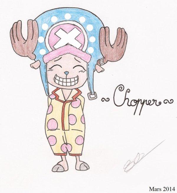 Mon dessin de Chopper ^^