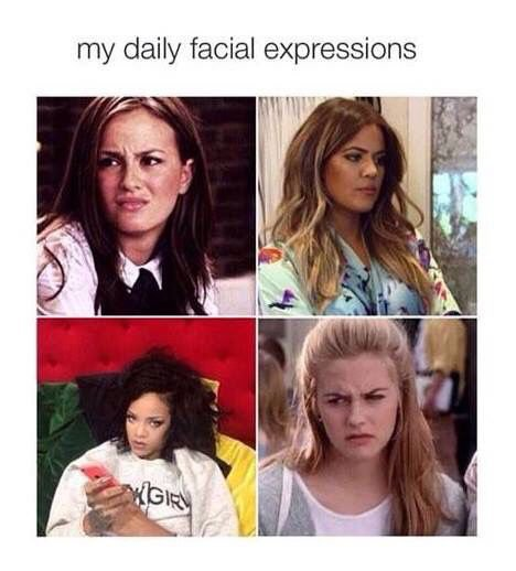 daily facial expressions