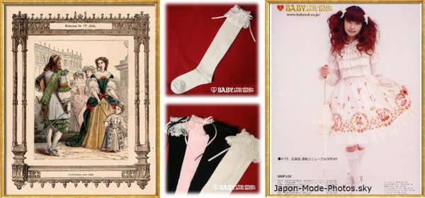 Les chaussettes des Lolitas et le 17ème siècle français