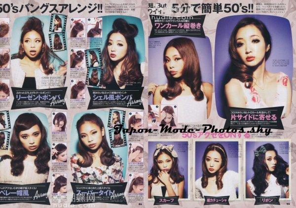 La coiffure retro tendance chez les Japonaises