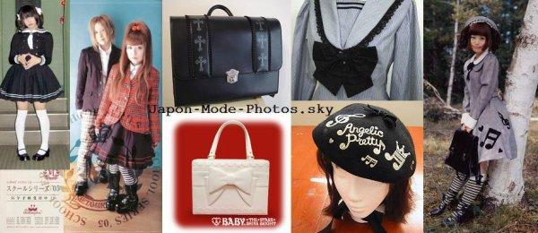 Lolita et uniforme : style preppy, nurse, sailor etc