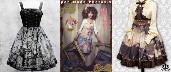 La mode des imprimés tableaux chez les Lolitas