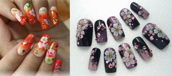 Kimono nail art