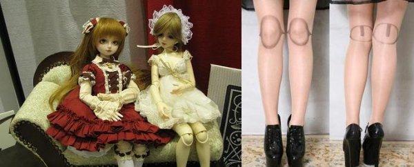 Des jambes de poupées