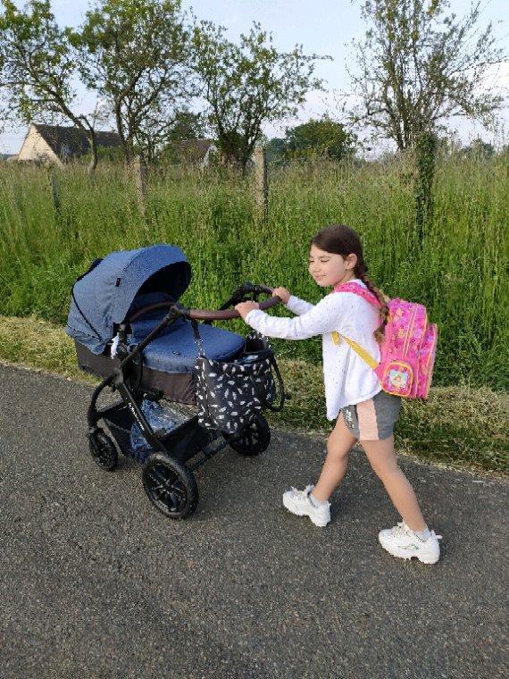Ma puce sur le chemin de l'école