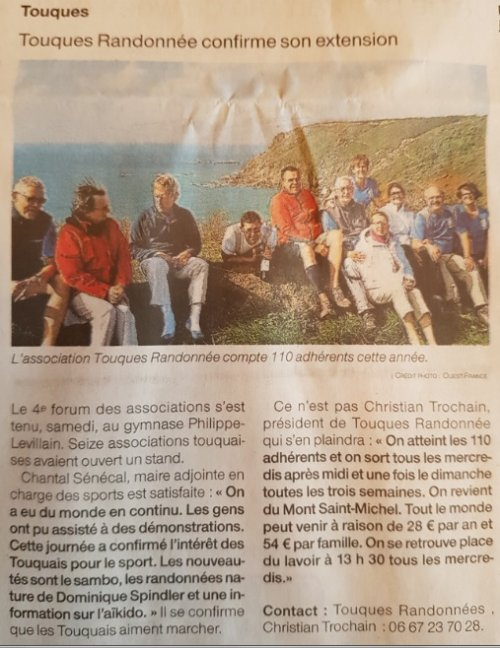 4ème Forum des Associations - Ouest France 13/09/2017
