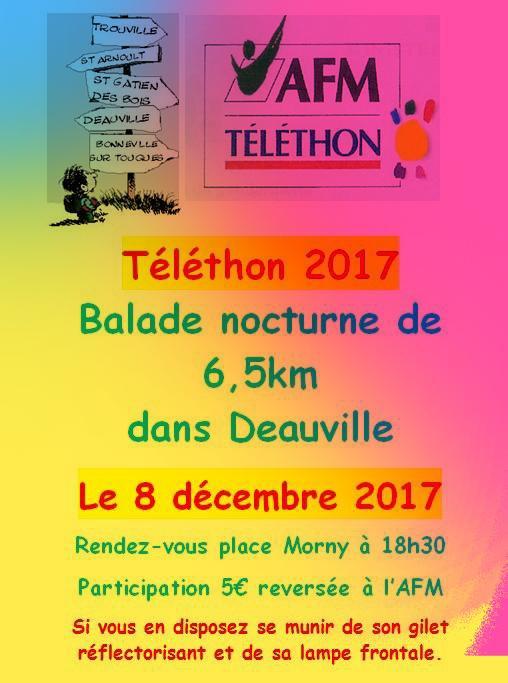 TELETHON - BALADE NOCTURNE - DEAUVILLE - 8 DECEMBRE 2017