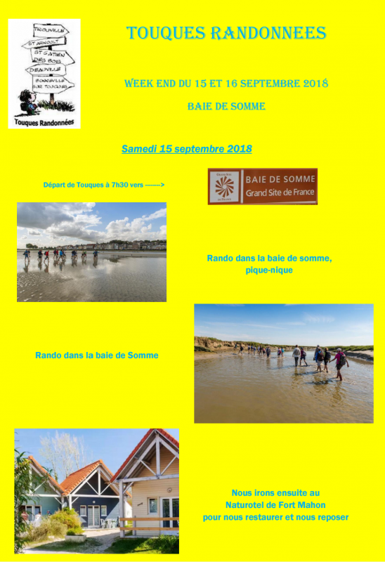 WEEK-END 15 & 16 SEPTEMBRE 2018