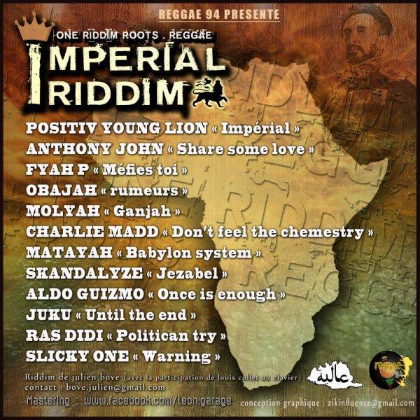 IMPERIAL RIDDIM (disponible sur plate forme de téléchargement légal et version CD digital)