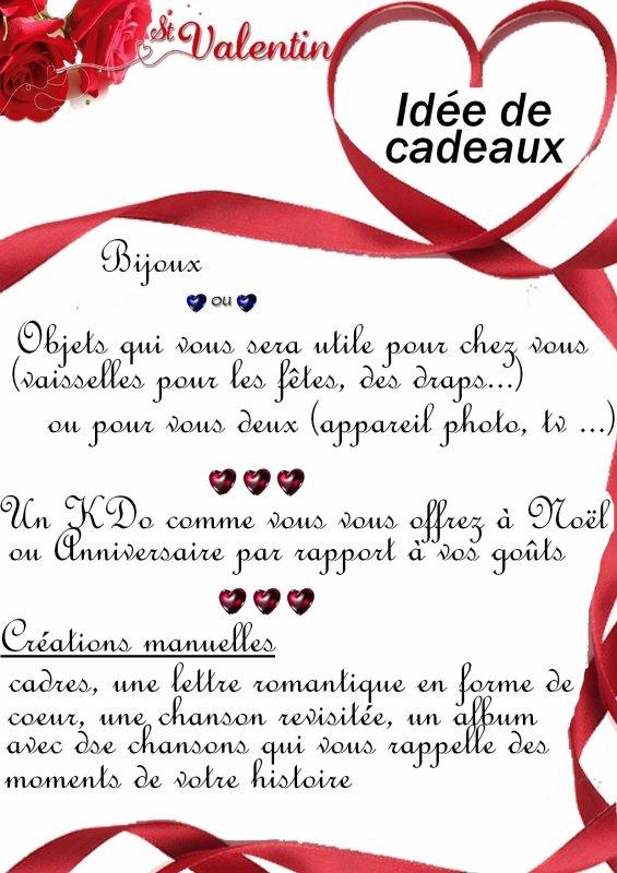 ♥ Cadeau Saint Valentin ♥