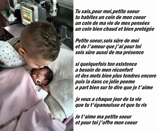 Bisous Petite Soeur Je Taime De Tout Mon Coeur Bienvenu