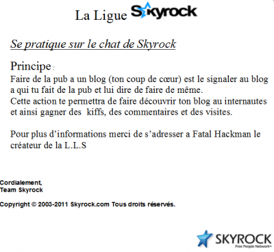 L.L.S (La Ligue Skyrock)