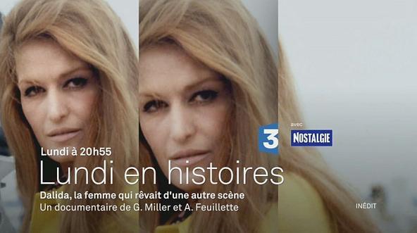 Dalida, la femme qui rêvait d'une autre scène...lundi 25 janvier 20h55 sur France 3