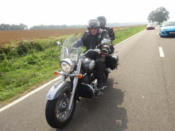 un temps magnifique pour une balade moto entre amis