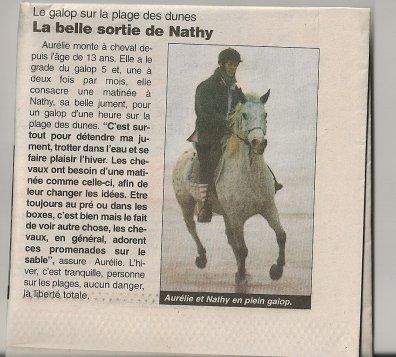 NATHY ET MOI DANS LE JOURNAL DES SABLES D'OLONNE!!!