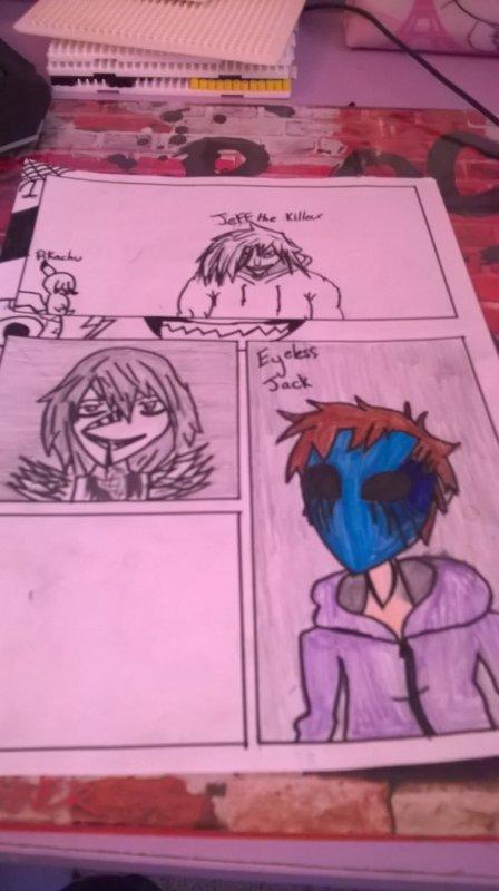 petite bande dessiner (pas finie )avec les personnage de creepypasta