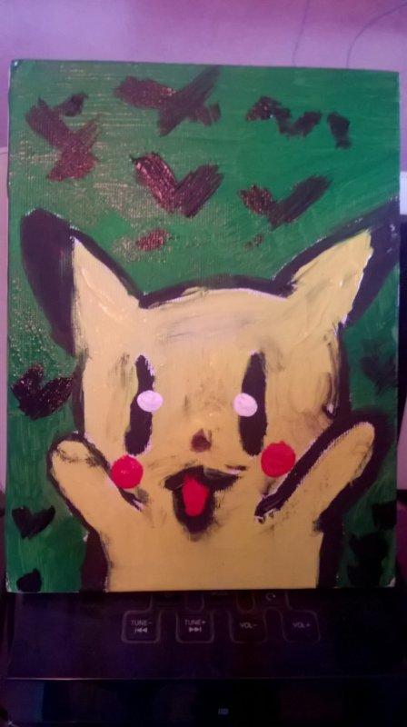 tableau pikachu très mal fais x)