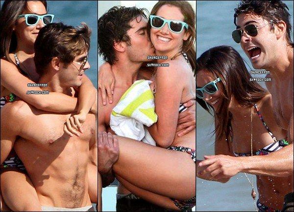------- 02.07.11 | Zac & Ashley Tisdale, fêtant l'anniversaire de cette dernière sur une plage de Malibu (CA).-------