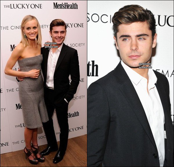 -------  19.04.12 | Zac était à la projection de The Lucky One au Crosby Street Hotel à NY -------