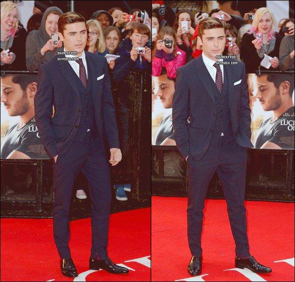 -------  23.04.12 | Zac sur le tapis rouge lors de la première londonienne de The Lucky One. -------